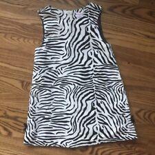 Gymboree Girls Dress Size 5 Mod Zebra Line White Black Velveteen