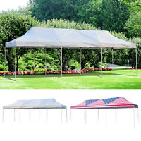 29'x10' EZ Pop Up Party Wedding Tent Folding Gazebo Canopy Heavy Duty W/ Bag