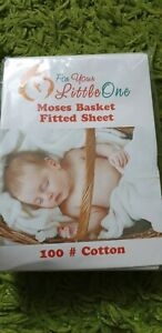 Moses basket FITTED SHEET FOR YOUR LITTLE ONE 100% COTTON