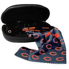 NEW 3 PIECE NFL CHICAGO BEARS Sunglasses & Accessory Set Case Microfiber Cloth