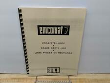 EMCO Emcomat 7 Spare Parts List Manual