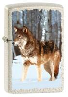 ZIPPO - BENZIN - FEUERZEUG - WOLF IN SNOWY FOREST - 60005579 - NEUHEIT 2021