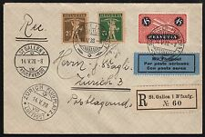SWISS STAMPS ON 1928 AIR COVER BR7773