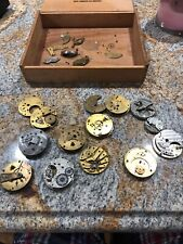 Lot 10+ Multiple Brand Antique Pocket Watch Movements Waltham Railroad Bartlett