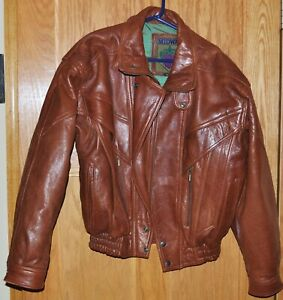 Men's Vintage Midway Leather Jacket, Brown - Small