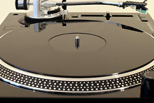 Gloss Black GIRADISCHI PIATTO Tappetino. adatto a Audio Technica lp120 lp1240 Upgrade!