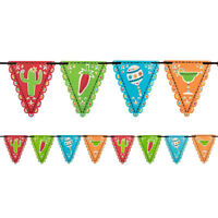 MEXICAN FIESTA PENNANT FLAG BANNER PARTY HANGING DECORATIONS CHILLI CACTUS 4.57M