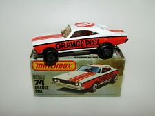 Matchbox Superfast No 74 Orange Peel USA Picture Box MIB RARE