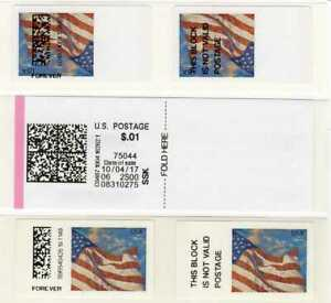 APC / SSK / CVP / ATM - USA #CVP91 Inverted Flag stamp ERROR - single (+regular)