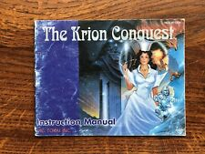 Krion Conquest NES Nintendo Instruction Manual Only