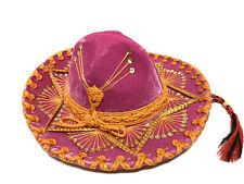 "Vintage ""Sombreros Selene Xxxxx Calidad� Pink Crushed Velvet Mexican Hat Child"
