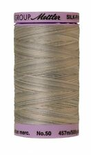 Mettler Silk-Finish 50wt Variegated Cotton Thread 500yd/457M Dove Gray 9860