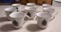 Set fo 8 Footed Tea/Coffee Cup 6 Oz Noel Morning pattern Gibson Designs - EUC!