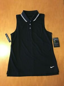 NWT WOMENS MEDIUM NIKE DRI-FIT SLEEVELESS GOLF SHIRT.