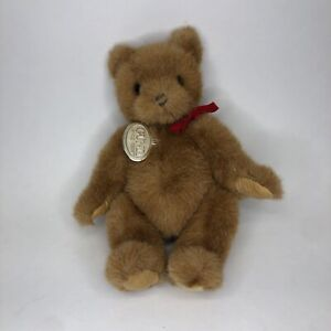 Vintage 1989 Collector's Gund Bear with Red Bow