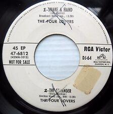 FOUR LOVERS Frankie Valli 2 songs WLPROMO RCA 45 EP b/w TEDDI KING 2 songs F2747