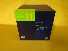 13-CD BOX BACH 2000 TELDEC DAS ALTE WERK VOLUME 11 / BACH - THE CHAMBER MUSIC