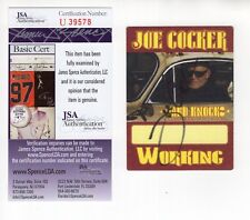JOE COCKER HAND SIGNED 3x4 BACKSTAGE PASS      AWESOME+VERY RARE          JSA