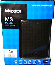Maxtor STSHX-M401TCBM M3 4TB External Hard Disk Drive USB 3.0 Brand New
