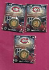 RARE 2009-10 CANADIENS GORGES+PLAKANEC+ LATENDRESSE  MEDALLION (INV# C1084)