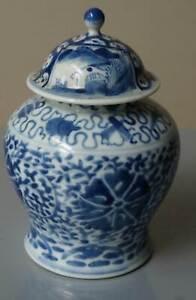 Vase, China, Porzellan, Porzellanvase, Asien, Deckelvase, Bodenmarke Kangxi
