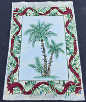 Paradise Christmas Palm Trees Crafters Unfinished Tapestry Wall Hanging Fabric