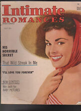 Intimate Romances July 1955 His Horrible Secret That Wild Streak in Me