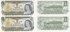 1973 Canada $1 2 Note Uncut Sheet BFL Block Uncirculated