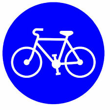 ROAD SIGNS (BICYCLE LANE) -  NOVELTY FRIDGE MAGNET - BRAND NEW