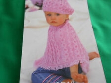 Baby's poncho and beret size 16-26 knitting pattern