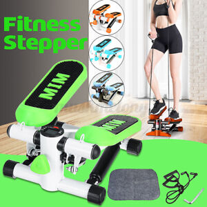 330LBS Mini LCD Display Stepper Exercise&Arm Cords Stair Climber Fitness Stepper