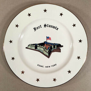 "Rome NY New York: Scarce Vintage FORT STANWIX 10"" Souvenir Plate"