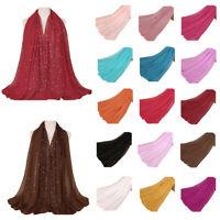 Muslim Women Scarf Long Scarves Shawl Wrap Headscarf Hijab Stole Candy Colors