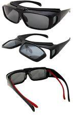 FLIP UP Fit Over Prescription Glasses Sunglasses POLARIZED COVER OVER SHIELD MEN
