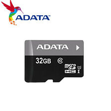 ADATA 32GB MicroSD SD Card SDHC Class10 TF Flash Memory Card- AUSDH32GUICL10