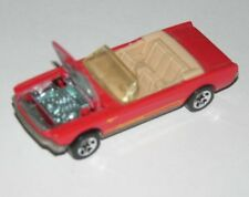 Hot Wheels Red 1960's Convertible Ford Mustang Car The Hood Opens  Marked 1983