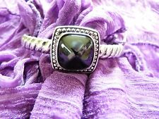 Montana Silversmith bracelet with rope cuff and black stone