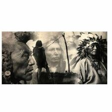 Black And White Native Indian Painting Posters And Prints Portrait Canvas Art