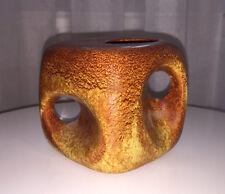 BERTONCELLO Italy KERAMIK Vase op Art ITALIEN 70er Jahre POTTERY WÜRFEL FORM