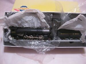 Chesapeake & Ohio Engine 3708 & Coal Car Set G9013 USRA 2-8-2 Mikado Genesis tr1