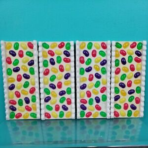 """Jelly Bean Sidewalk """"Frosted Candy Road"""" Lemax Sugar N Spice x 4"""