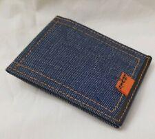 Levi's Denim Mate Clip-on Orange Tab Saddle Cowhide Money Holder Vintage