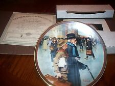 """1991 Bradford Exchange Plate """"A Helping Hand"""" By: Norman Rockwell#12215A"""