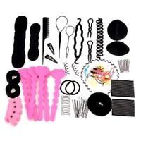 20PCS Women Girls Magic Braiders Hair Twist Styling Clip Stick Maker Braid Tool