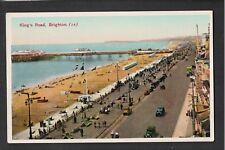 L@@K  King's Road Brighton 1950'S ? Postcard ~ Pier