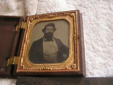 Tin Type Photo Antique Portrait Man With Beard