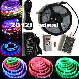 Waterproof 5M 5050 RGB Dream Color 6803 IC LED Strip Light 133 Change RF Remote