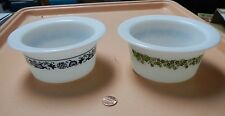 Choice Vtg Pyrex Margarine Dishes, Old Town Blue or Crazy Daisy/Spring Blossom