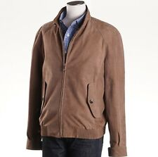 NWT $5950 BRIONI Light Brown Patterned Suede Leather Bomber Jacket 50/40 (M)