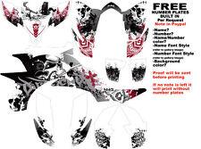 DFR FOLD GRAPHIC KIT WHITE/RED FULL WRAP YAMAHA YFZ 450 YFZ450